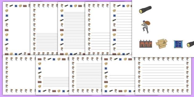 Burglar Page Borders Pack - burglar bill, burglar, page borders, pack