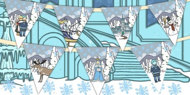 The Snow Queen Bunting - bunting, snow queen, display, queen