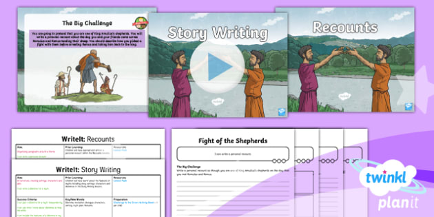PlanIt Y4 Myths and Legends: Romulus and Remus WriteIt Pack - Myths and Legends: Romulus and Remus, rome, ancient roman, myth, legend, Y4, Year 4, mythology, writ