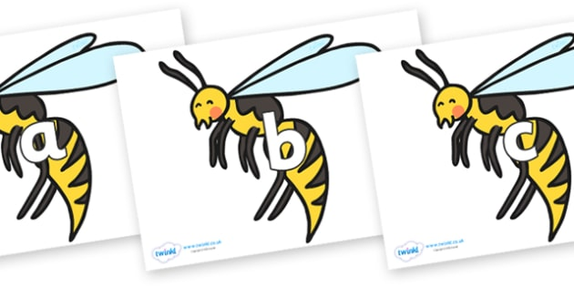Phase 2 Phonemes on Wasps - Phonemes, phoneme, Phase 2, Phase two, Foundation, Literacy, Letters and Sounds, DfES, display