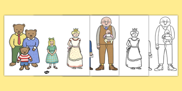 The Jolly Postman Characters to Support Teaching on The Jolly Postman - blue, postman, jolly, letter, Janet Ahlberg, Cinderella, characters, main characters, images, story, story book, book resources, Three Bears, wolf, gian, goldilocks, postcard, wi