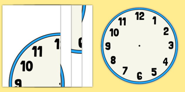 4xA4 Clock Face For Display - clock, face, display, time, tell