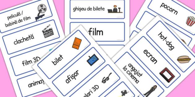 La Cinema, joc de rol, cartonase cu imagini si cuvinte, Romanian