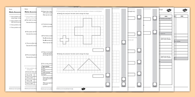 Year 6 Maths Assessment: Ratio and Proportion Term 1 - maths, ratio