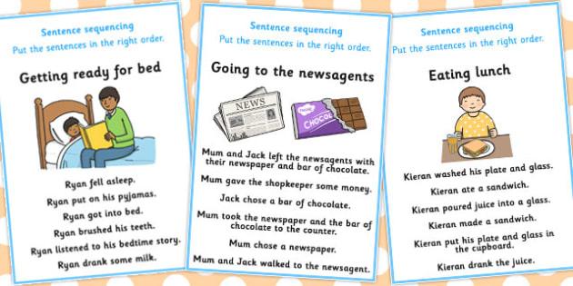 6 Step Sequencing Cards - sequencing, cards, 6, step, sequence