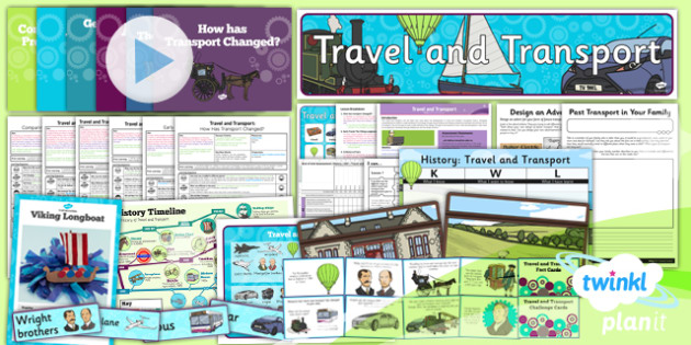 History: Travel and Transport KS1 Unit Pack