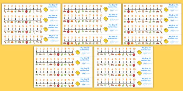 Harvest Number Line (0-10) - Counting, Numberline, Number line, Counting on, Counting back, harvest, harvest festival, fruit, apple, pear, orange, wheat, bread, grain, leaves, conker