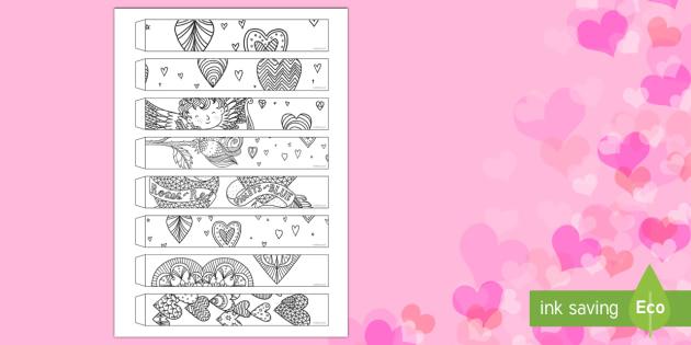 Valentine's Day Mindfulness Paper Chains - Valentine's Day,  Feb 14th, love, cupid, hearts, valentine,