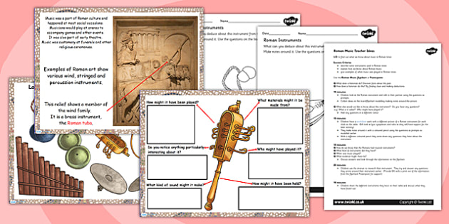 Roman Music Lesson Teaching Pack - romans, roman music, music