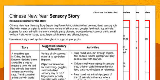 Chinese New Year Sensory Story - chinese new year, sensory story, sensory, story, sen