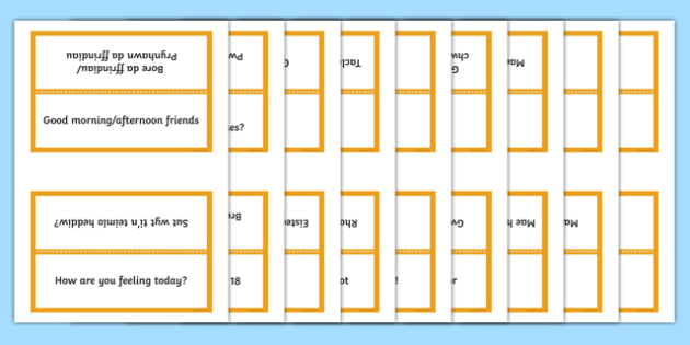 Word Cards for Bocs or Bag Helpwr Heddiw Year Five and Six bilingual resource - Word Cards, Welsh Second Language, Helpwr Heddiw