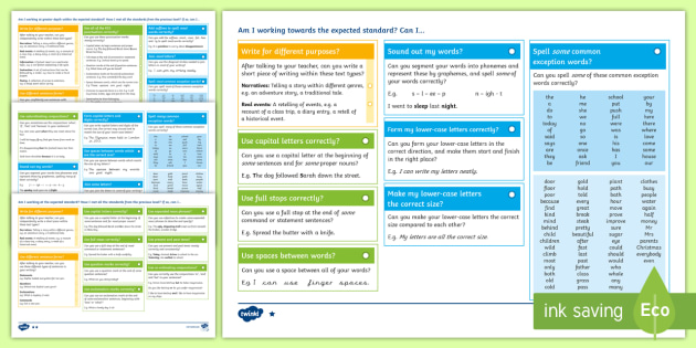 *NEW* Y2 Writing Assessment I Can Statements with Worked Examples Assessment Pack - Year 2, SATs, assessment, 2017, English, SPaG, GPS, grammar, punctuation, spelling, writing, teacher
