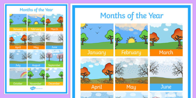 Months of the Year Poster - australia, months, year, poster, display, display poster