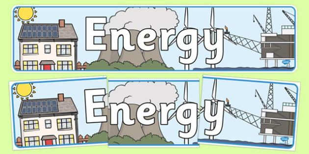 Energy Themed Banner - energy, display, banners, display