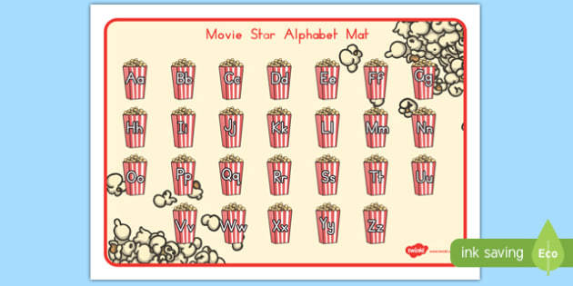 Movie Star Alphabet Mat