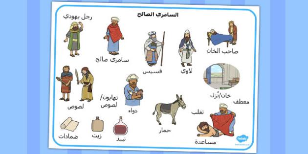 بساط كلمات السامري الصالح - السامري الصالح، موراد تعليمية