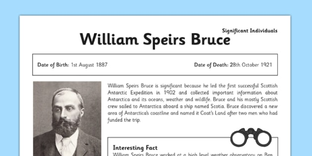 William Speirs Fact Sheet - william speirs, fact sheet, history, ks2