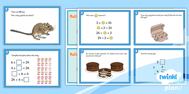PlanIt Y3 Multiplication and Division Challenge Cards - maths challenge, problem solving, fast finisher, maths puzzles, reasoning, fluency, deeper learning, using and applying