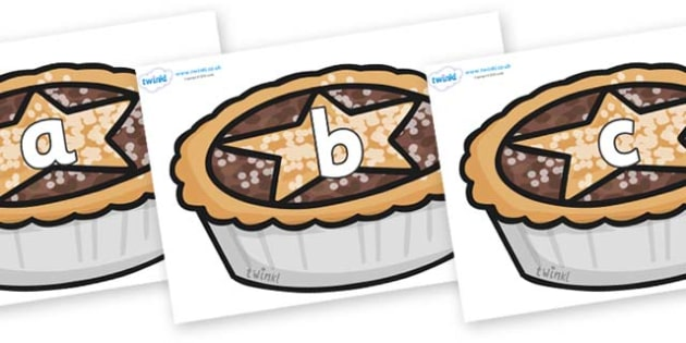 Phase 2 Phonemes on Mince Pies - Phonemes, phoneme, Phase 2, Phase two, Foundation, Literacy, Letters and Sounds, DfES, display