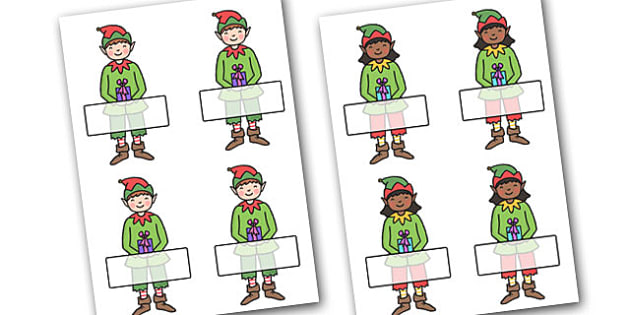 Christmas Self Registration Elves Editable  - christmas, elves