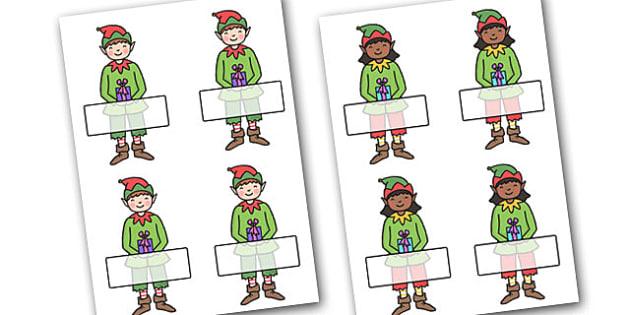 Christmas Editable Self Registration Elves - christmas, xmas, self registration, self-registration, editable, editable labels, self registration labels on elves, elves, elf, elves labels, elf labels, editable self registration labels, labels, registr