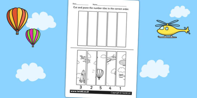 Transport Themed Number Sequencing Puzzle - numbers, sort, order