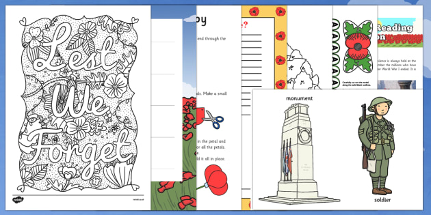 Top 10 Key Stage 1 Remembrance Day  Activity Pack