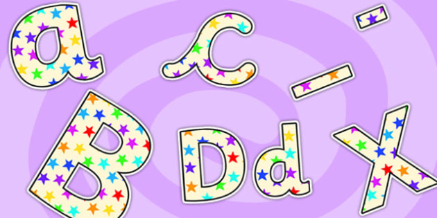 Star of the Day Small Lowercase Display Lettering-star of the day, lowercase, display lettering, lettering for display, star of the day lettering, small