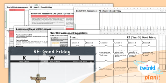 PlanIt - RE Year 3 - Good Friday Unit Assessment Pack - planit, re, religious education, good Friday, christianity, assessment, pack