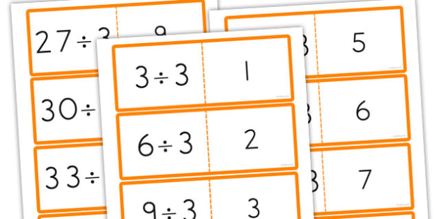 3 Times Table Division Cards - australia, division, cards, times