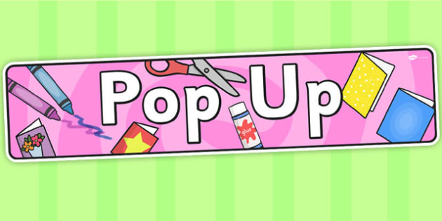 Pop Up Themed Banner - header, display, , banner