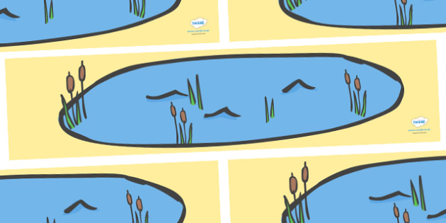Small World Background (Simple) to Support Teaching on Pig in the Pond - Pig in the Pond, Martin Waddell, resources, Very Hot Day, Neligan, Neligan's pig, ducks, geese, pond, animals, story, story book, story book resources, story sequencing, story r