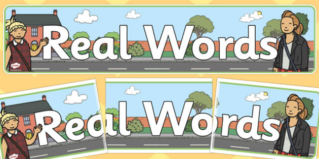 Real Words Display Banner - display, banner, real words, real