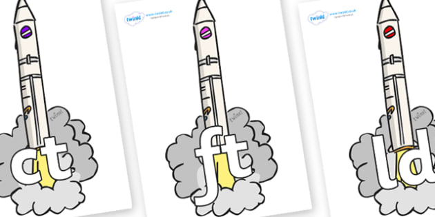 Final Letter Blends on Launching Rockets - Final Letters, final letter, letter blend, letter blends, consonant, consonants, digraph, trigraph, literacy, alphabet, letters, foundation stage literacy
