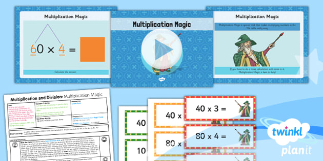 PlanIt Y3 Multiplication and Division Lesson Pack Multiplication (1) - multiplication magic, smile multiplication, multiplying multiples of 10, planning