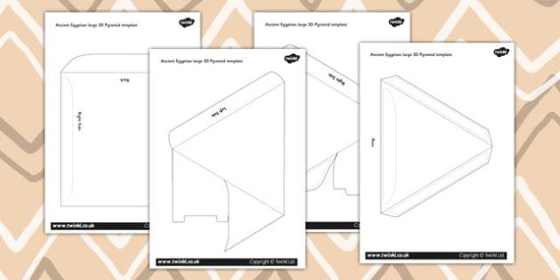 Make Your Own 3D Pyramid Template - australia, pyramid, 3d, make