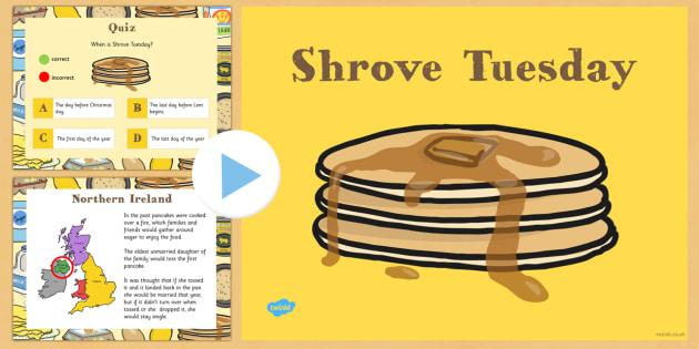 Shrove Tuesday PowerPoint - shrove, Tuesday, powerpoint, pancake