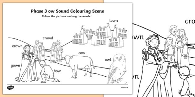 Phase 3 ow Sound Colouring Scene