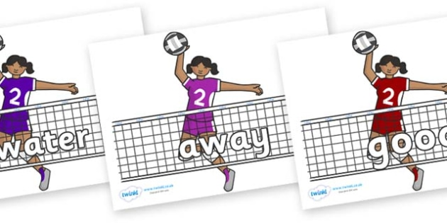 Next 200 Common Words on Volleyball - Next 200 Common Words on  - DfES Letters and Sounds, Letters and Sounds, Letters and sounds words, Common words, 200 common words
