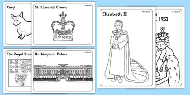 The Queen Colouring Pack - the queen, colouring pack, colour, pack