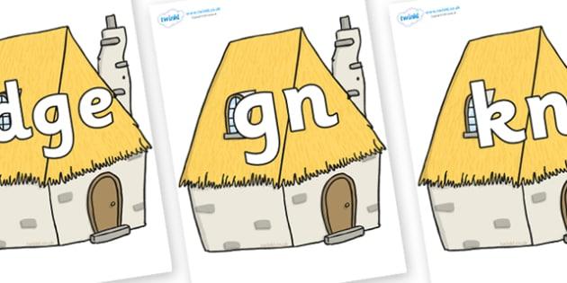 Silent Letters on Cottage - Silent Letters, silent letter, letter blend, consonant, consonants, digraph, trigraph, A-Z letters, literacy, alphabet, letters, alternative sounds