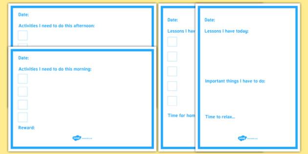 Daily Planner Checklist
