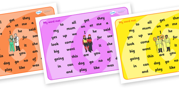 People Who Help Us FS2 Word Mat - people who help us, people who help us word mat, fs2 word mat, fs2 words, fs2 key words, fs2 high frequency words