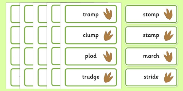 Dinosaur Dance Movement Word Cards - Dance eyfs, movement, actions, physical development
