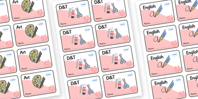 Red Themed Editable Book Labels - Themed Book label, label, subject labels, exercise book, workbook labels, textbook labels