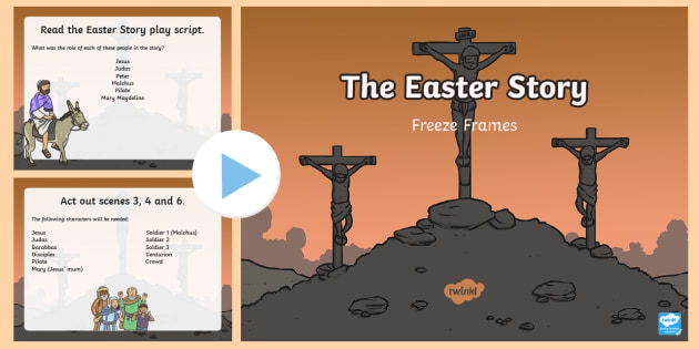 The Easter Story Freeze Frames Task Setter PowerPoint - easter