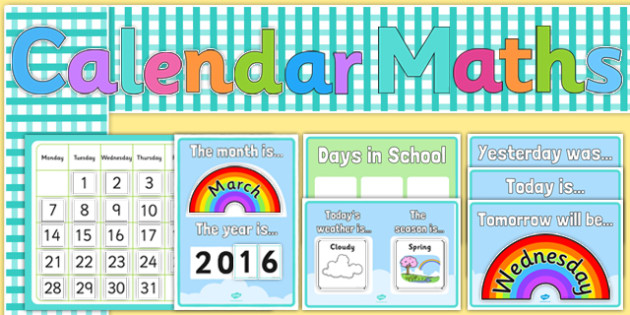 Calendar Ideas Reception : Ready made calendar display pack eylf early years