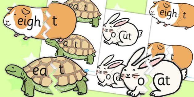 Vowel And Final 'T' Animal Jigsaws - games, jigsaw, activities