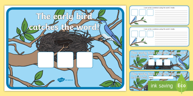The Early Bird Catches The Word Pack - words, pack. Literacy
