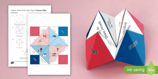 Faire Present Tense Fortune Teller - French, Fortune Teller, faire, present, tense, conjugation,French